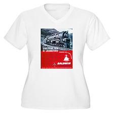 Baldwin S-2 Steam Locomotive T-Shirt