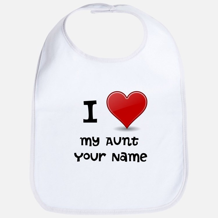 I Heart My Aunt (Custom) Bib