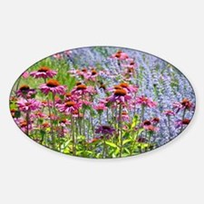 Echinacea and lavender flower garden Decal