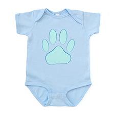 Blue Dog Pawprint Body Suit