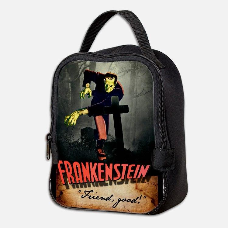 Frankenstein Friend Neoprene Lunch Bag