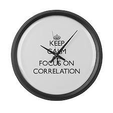 Funny Correlation Large Wall Clock