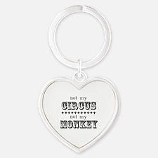 Not My Monkey (Light) Heart Keychain