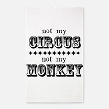 Not My Monkey 3'x5' Area Rug
