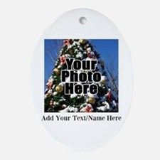 Custom Personalized Color Photo and Text Ornament