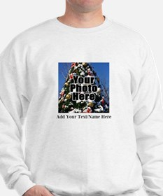 Custom Personalized Color Photo and Text Sweatshir