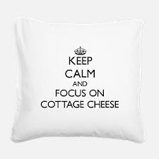 Unique I love cheese Square Canvas Pillow