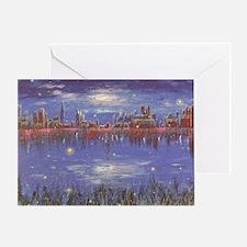 Fireflies Card Greeting Cards