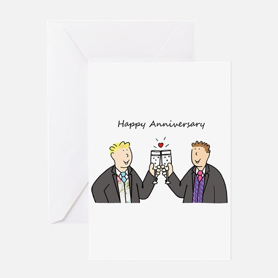Gay male anniversary celebration. Greeting Cards