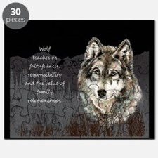 Wolf Totem Animal Spirit Guide for Inspiration Puz