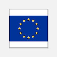"""Funny Europa Square Sticker 3"""" x 3"""""""