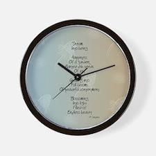 Dream Poem Wall Clock