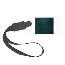 Dark Aqua Blue Green Grunge Texture Luggage Tag