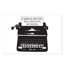 Careful or end up my novel Postcards (Package of 8