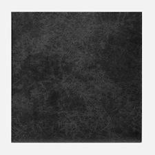Black Gray Grunge Texture Tile Coaster
