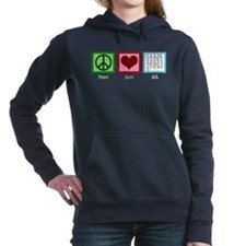 Peace Love ASL Women's Hooded Sweatshirt