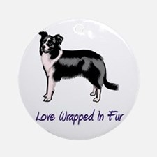 Border Collie - Love Wrapped  Ornament (Round)