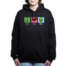 Peace Love Aliens Women's Hooded Sweatshirt