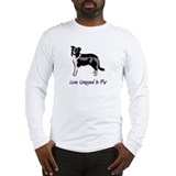 Border collie art Long Sleeve T-shirts