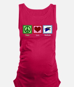 Peace Love Graduate Maternity Tank Top