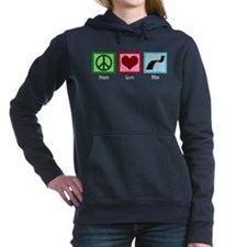 Peace Love Film Women's Hooded Sweatshirt