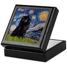 Starry Night Schipperke Keepsake Box