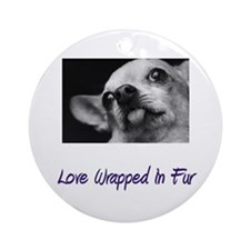 Chihuahua - Love Wrapped In F Ornament (Round)