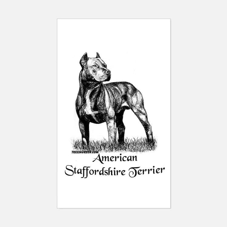 American Staffordshire Terrier Sticker (Rect.)