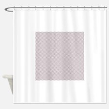 Lavender Purple Small Checkered Pattern Shower Cur
