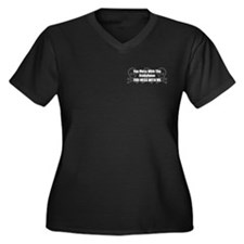 Mess With Staby Women's Plus Size V-Neck Dark T-Sh