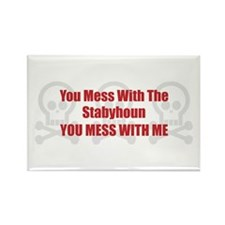 Mess With Staby Rectangle Magnet (100 pack)