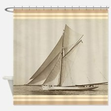 Vintage Sailboat Shower Curtain