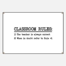 Classroom rules Banner