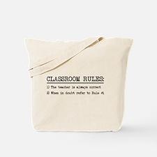 Classroom rules Tote Bag