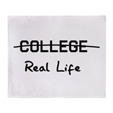 College real life Throw Blanket