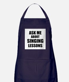 Ask me about Singing lessons Apron (dark)