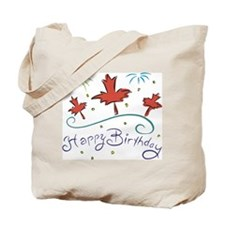 Happy Birthday Canada Tote Bag