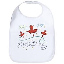Happy Birthday Canada Bib
