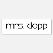 Mrs. Depp Bumper Bumper Bumper Sticker