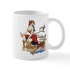 girl pirate with ship Mugs
