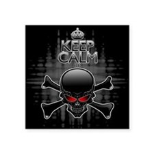 Keep Calm or Die! Black Skull Sticker
