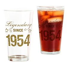 Legendary Since 1954 Birthday Drinking Glass