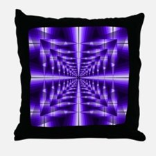 Trippy Purple Plaid Throw Pillow