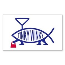 Tinky Winky Fish Rectangle Decal