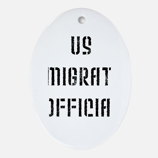 Immigration Oval Ornament