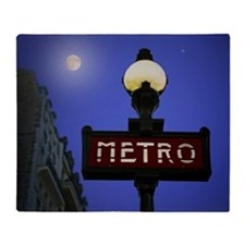 Full Moon Paris Metro Throw Blanket