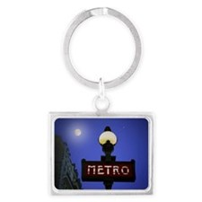 Full Moon Paris Metro Landscape Keychain