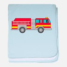 Cute firetruck baby blanket