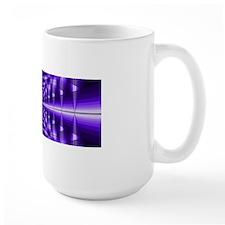 Trippy Purple Plaid Mugs