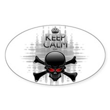 Keep Calm or Die! Black Skull Decal